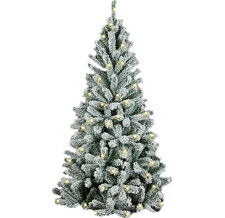 Елка искусственная Royal Christmas Flock Tree Promo Warm LED Hinged 150 см